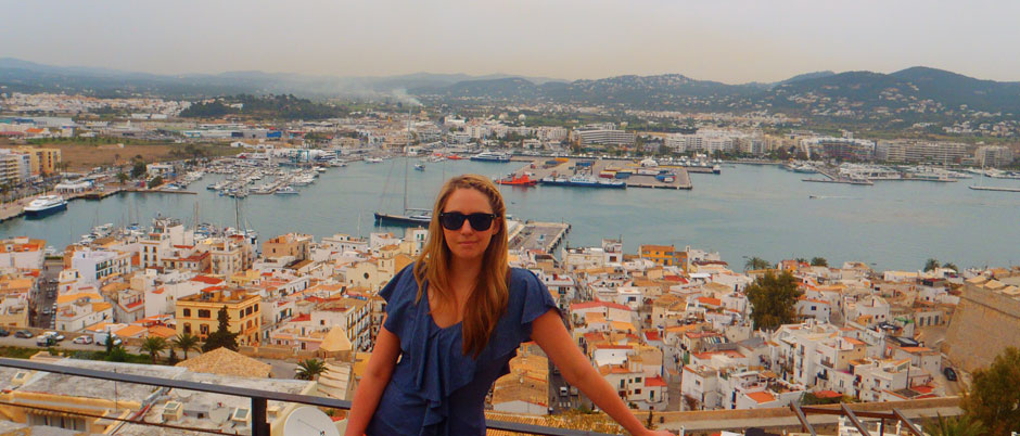 View from Ibiza Old Town