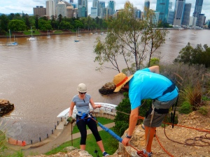 Abseiling at Kangaroo Point