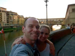 Taking in the sights of Florence