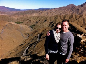 Matt and I in Morocco before 'the attack'