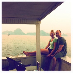 On a junk ship in Halong Bay