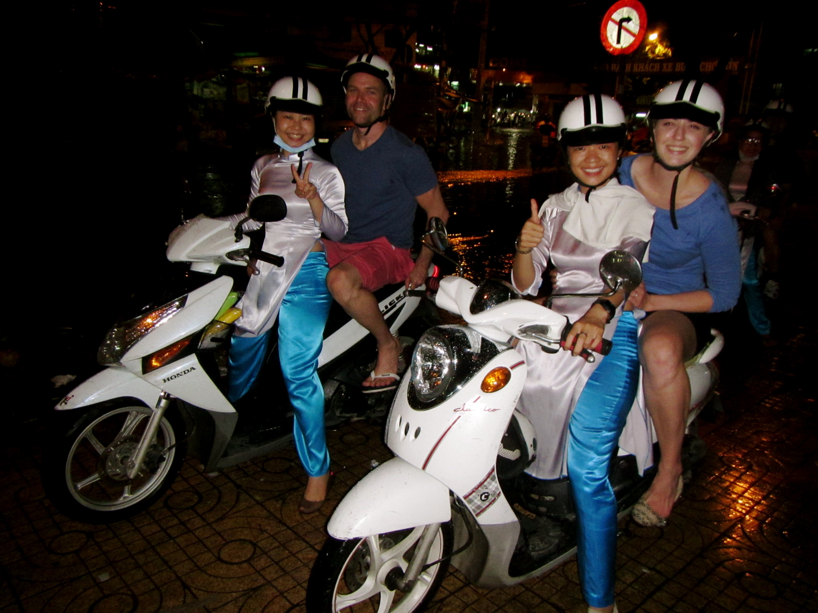 Buzzing around the streets with our amazing guides