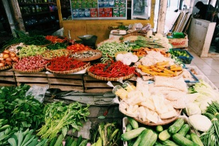 Fruit and veggies at the local market