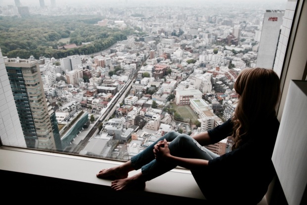 Lost in translation - view from hotel room in Tokyo