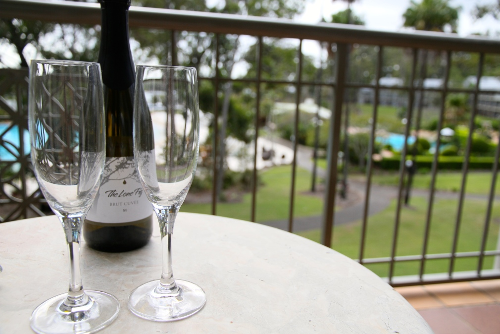 Sparkling Wine on the balcony