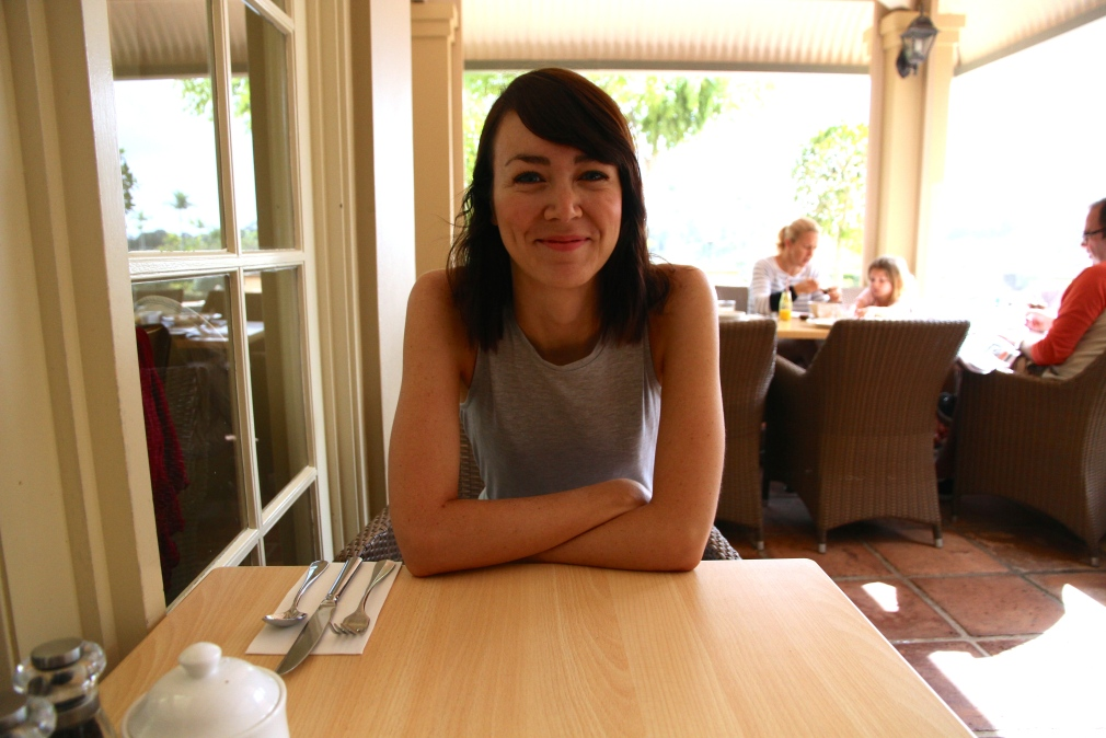 Claire at breakfast