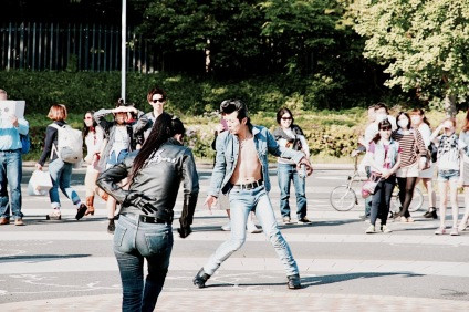 Greasers outside Yoyogi Park on a Sunday