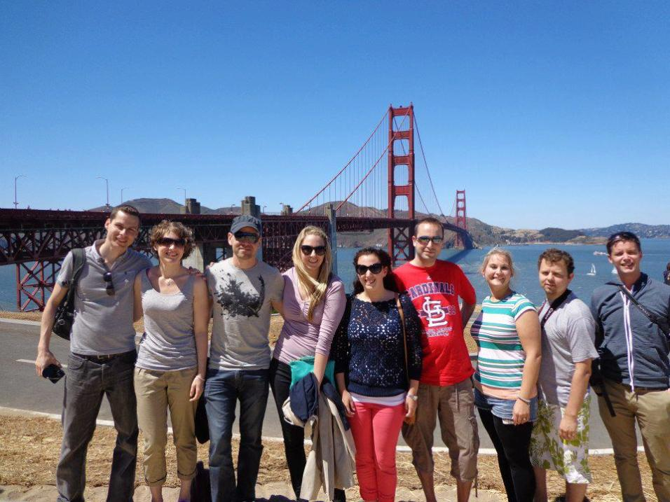 Part of our USA tour group in San Francisco