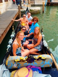 Matt and I on a gondola in Venice with some Europe tour friends