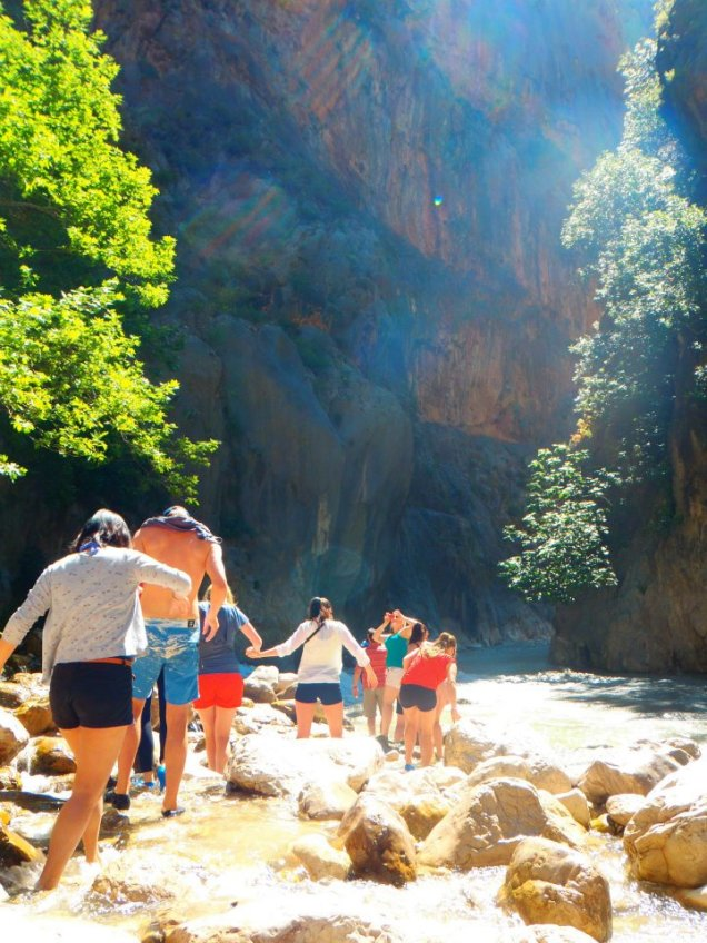 Our Turkey group tour canyoning