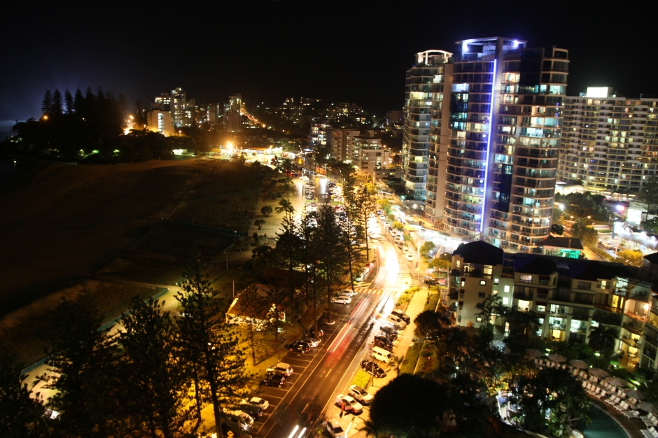 Coolangatta at night