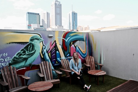 Rooftop Terrace and street art