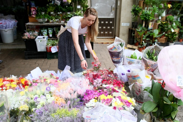 Exploring the local flower market