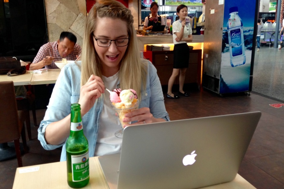 Ice Cream at the airport