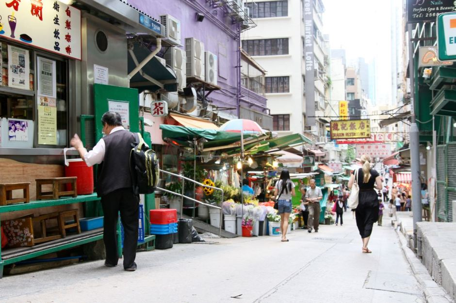 Gage Street in Central Hong Kong