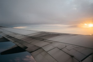 How to recover from Jet Lag blue skies plane wing