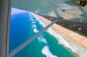 Scenic Flight with Air Fraser Island Things to do on Fraser Island Travel Blog Australia Queensland