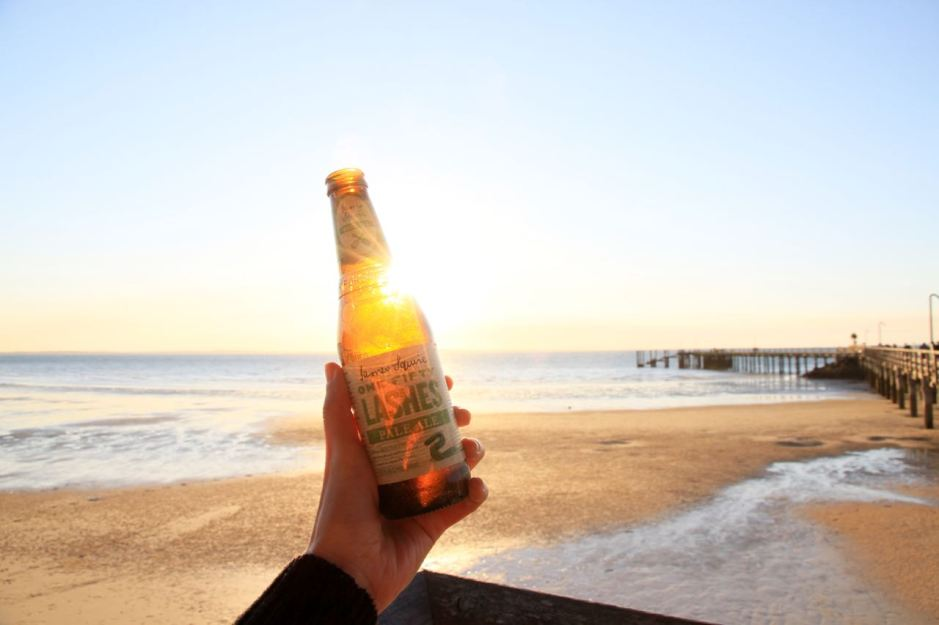 Tips for Staying Healthy while you travel Beer at sunset Fraser Island