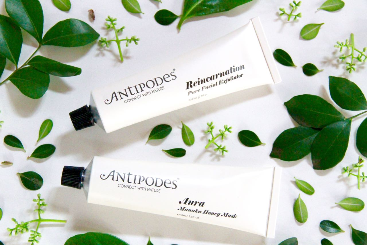 Antipodes Reincarnation exfoliator and Aura manuka honey mask travel blog beauty essentials