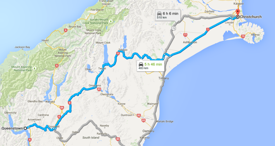 How to drive from Christchurch to Queenstown Travel Blog Travel Tips