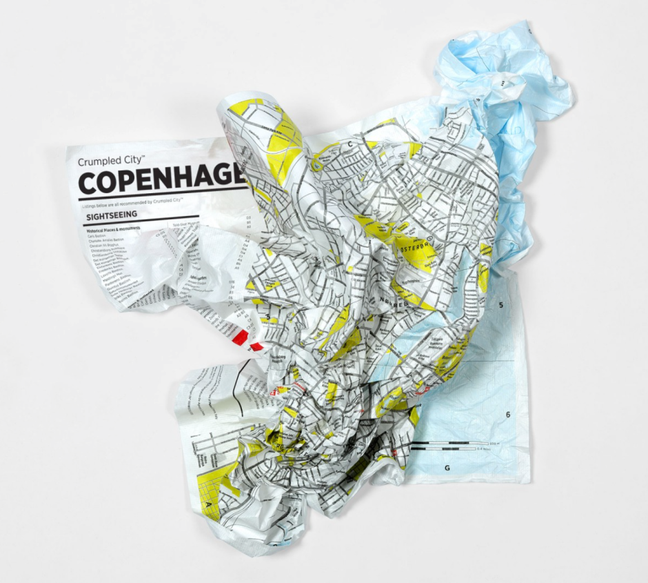 Crumpled Map
