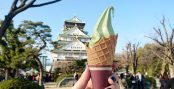 matcha ice cream osaka castle