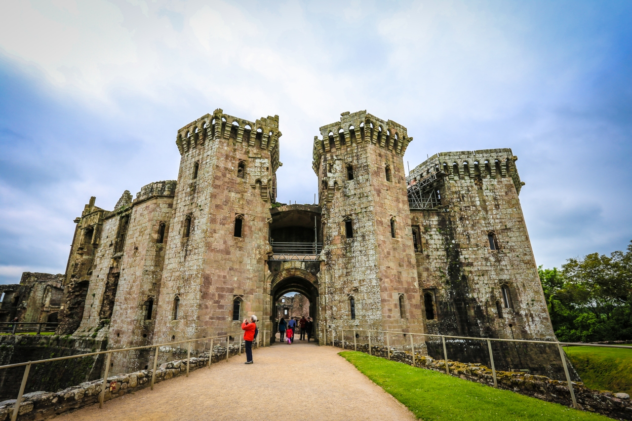 The Grand Entrance at Raglan Castle