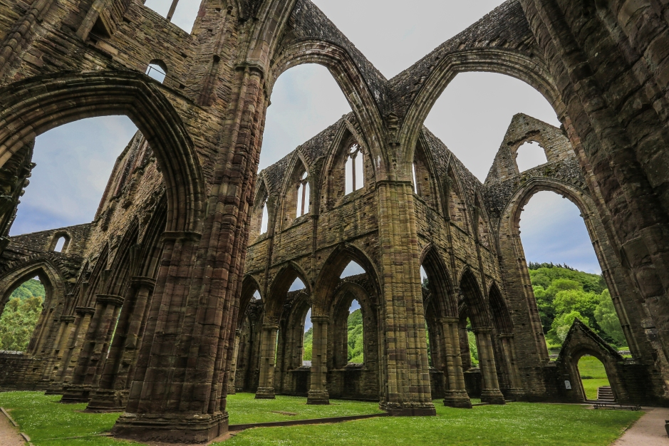 Wandering through Tintern Abbey's Skeleton