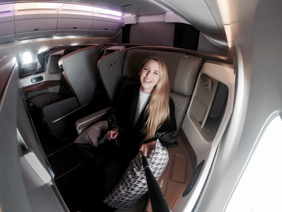 flying business class singapore to stockholm