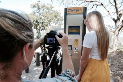 Behind-the-scenes photos from my shoot with Tourism & Events Queensland!