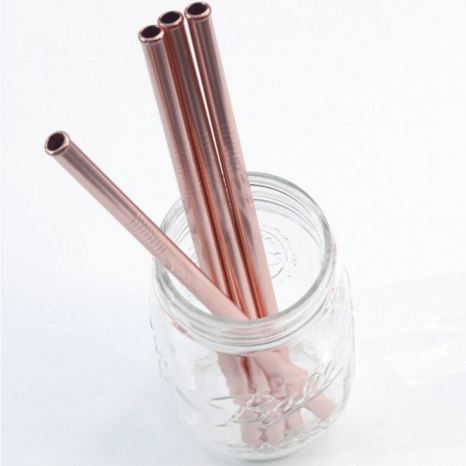 Stainless steel rose gold toothbrush
