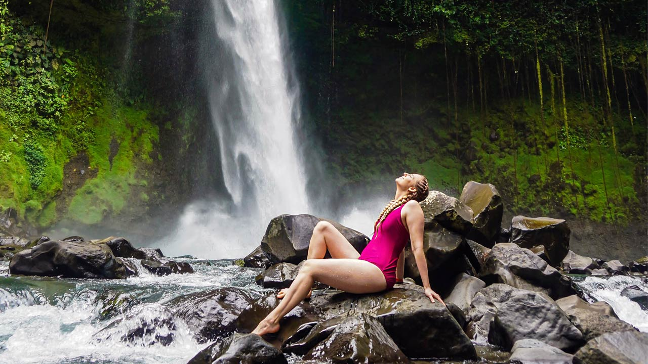 La Fortuna Waterfall by Little Grey Box